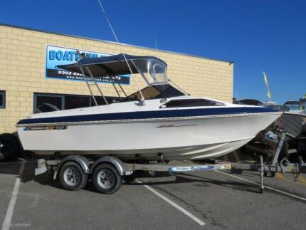 HAINES SIGNATURE 530F GREAT FIRST BOAT WITH FOUR STROKE GOOD DECK