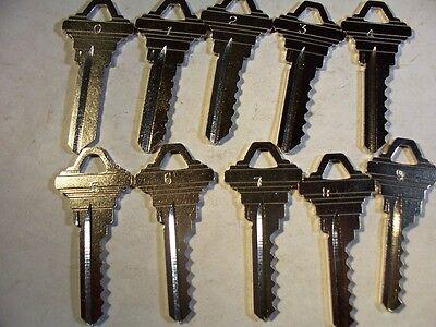 1 Set Schlage Sc4 Depth Keys 0-9 Locksmith