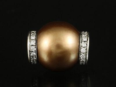 Tahiti Perle Brillant Wechselschließe ca. 0,34ct Verschluß Nittel System 750/-WG