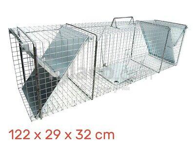 HUMANE LIVE CATCH TRAP - Fox Cat Racoon Beaver Badger - 122 x 29 x 32cm