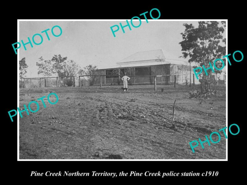 OLD 8x6 HISTORIC PHOTO OF PINE CREEK NT VIEW OF THE POLICE STATION c1910