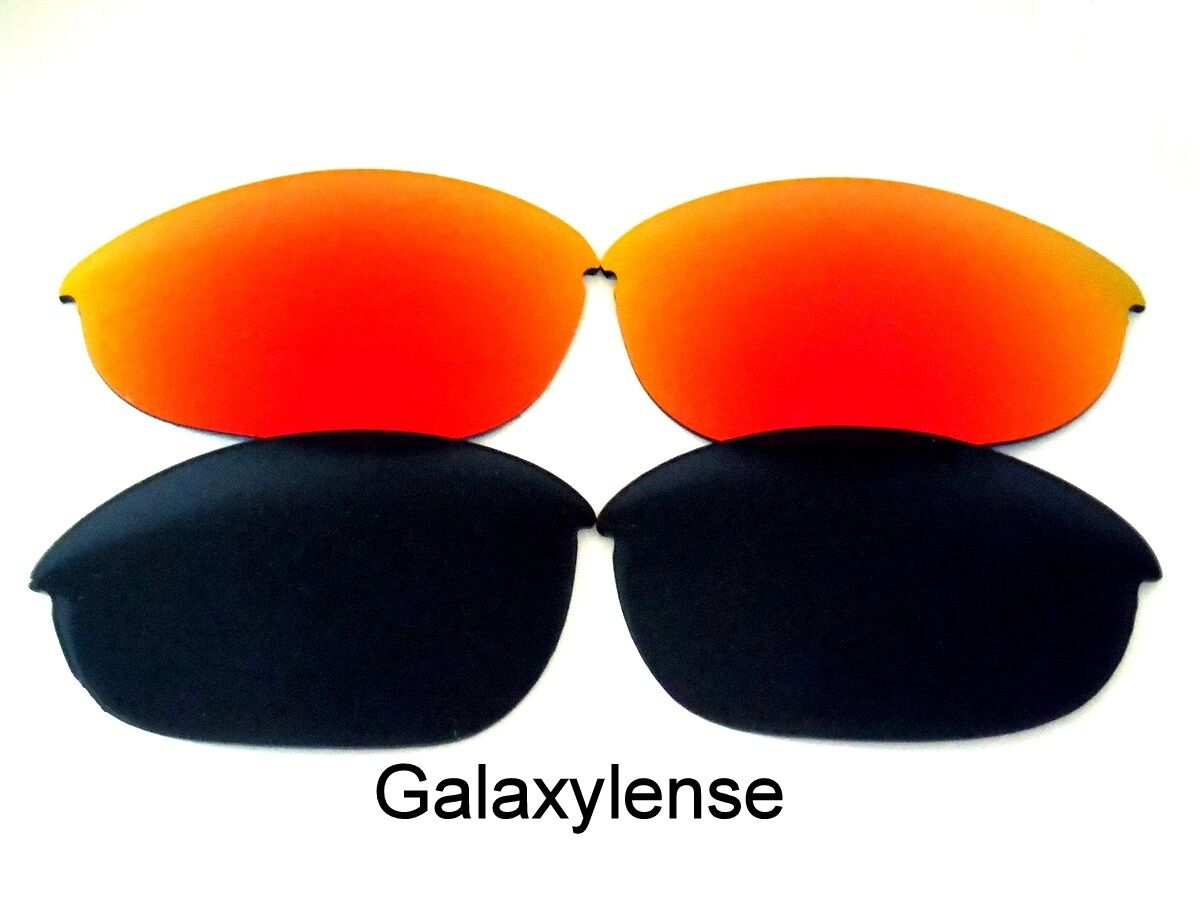 cdc9b56e19 Galaxy Replacement Lenses For Oakley Half Jacket XLJ Black Red Polarized 2  PAIRS