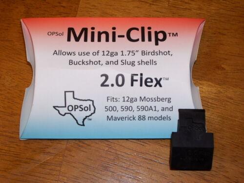 OPSol Mini-Clip™ 2.0 Flex™ - made in USA - fits 12 ga Mossberg 500 590 & Mav 88
