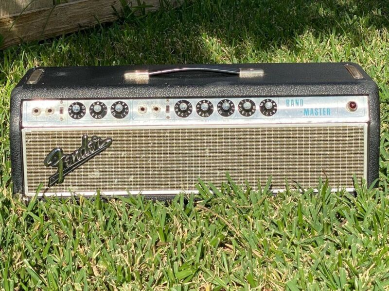 "Vintage Fender Band-Master Silverface ""Drip Edge"" Guitar Amplifier 1968"