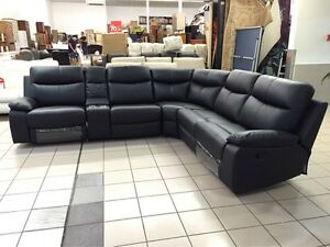 GENUINE LEATHER - APOLLO MODULAR LOUNGE W/2 RECLINERS Logan Central Logan Area Preview