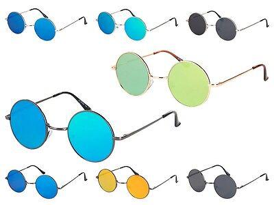 Flat Lens Flattop Sonnenbrille runde Gläser Rund John Lennon Nickelbrille 70er