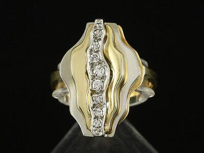 Attraktiver Brillant Ring ca. 0,20ct  750/- Gelbgold & Weißgold