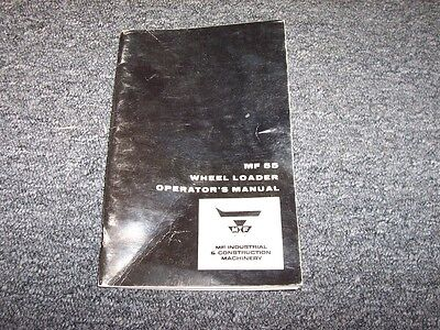 Massey Ferguson 55 Wheel Loader Tractor Owner Operator User Guide Manual Book
