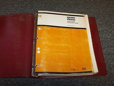 Case W26b Articulated Wheel Loader Original Factory Parts Catalog Manual Guide