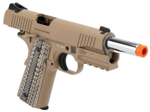 Colt CO2 gas blowback 1911 Tactical Full Metal 6 mm airsoft Pistol by KWC