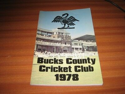 BUCKS COUNTY CRICKET CLUB 1978 YEAR BOOK BUCKINGHAMSHIRE