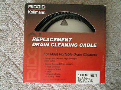Ridgid 62270 58 Drain Cleaning Cables - One Lot Of 9 Cables