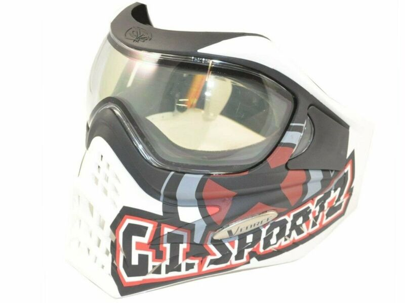 New V-FORCE Grill Paintball Mask / Goggle - SPECIAL EDITION - GI LOGO on WHITE