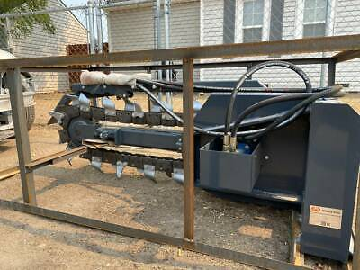 Trencher 48 Boom W6 Combo Chain Skid Steer Loader Attachment Bobcat Cat