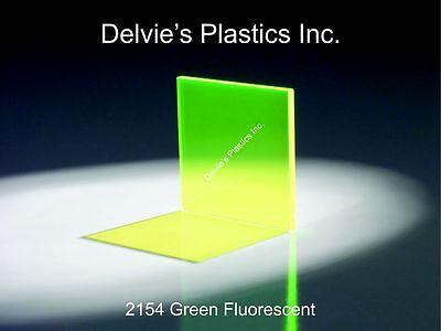 18 2154 Fluorescent Green Cell Cast Acrylic Sheet 12 X 24