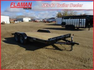 Diamond C 16' Flatdeck Carhauler Trailer - Two 5200 lb Axles!