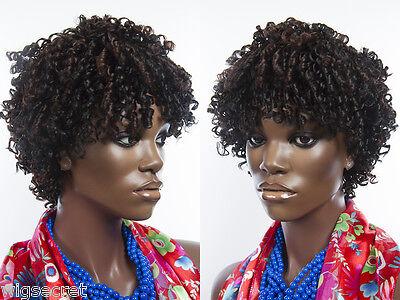 Short Curly Wig Features Tight Spiral Curls Medium Length Blonde Brunette - Tight Blonde