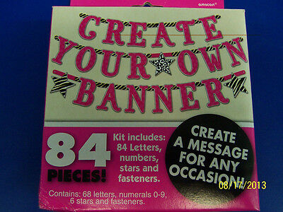 Create Birthday Banner (Pink Zebra Create Your Own Banner Jointed Letter Birthday Party Decoration)