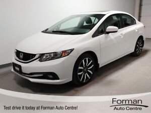 2015 Honda Civic Touring - One Owner | No Accidents | Loaded!