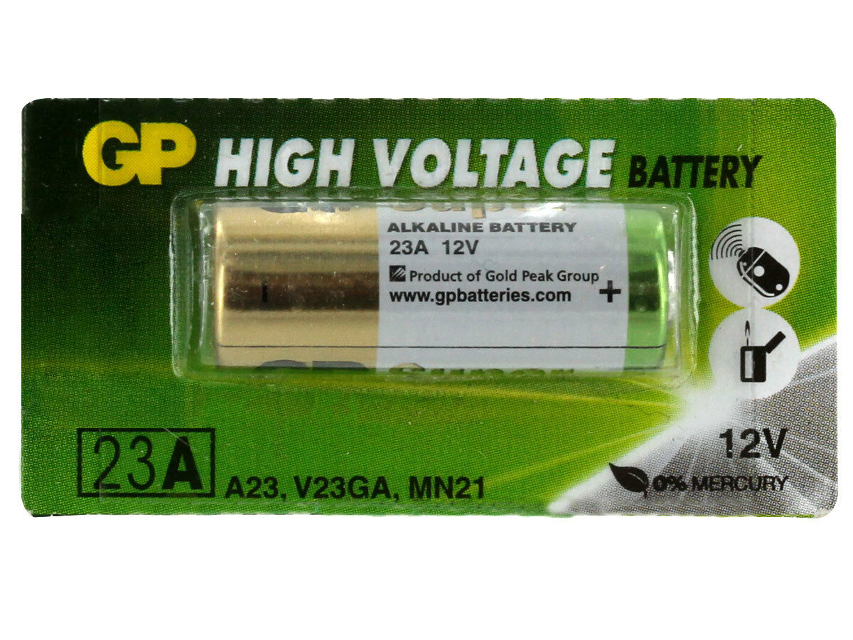 1x GP A23 12V Alkanline Batteries MN21 23A LRV08 K23A E23 Door Bell Chime Ligher