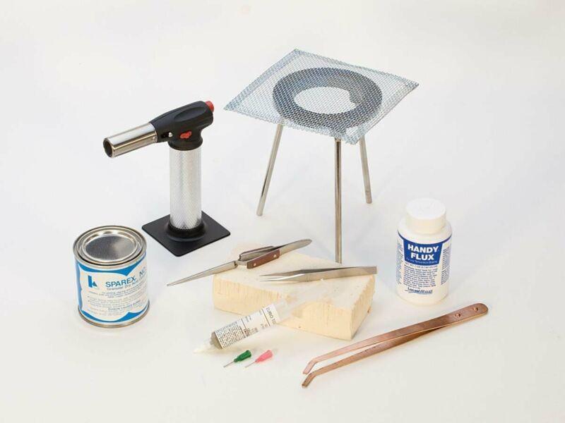 9-Piece Basic Soldering Kit Jewelry Making Metal Solder Repair Tool Set