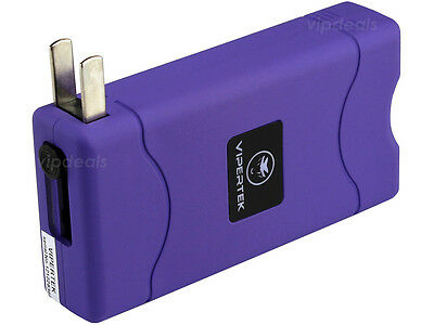 Купить VIPERTEK PURPLE VTS-880 10 BV Mini Rechargeable LED Police Stun Gun Taser Case
