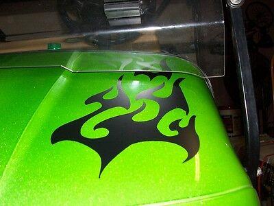 All Make Golf Cart EZGO Club Car Tribal Flame Decals Flames Graphics Decal Set
