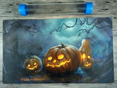 YuGiOh/VG/MTG Halloween Duel battlefiel Playmat Custom TCG Mat Free Best Tube (Best Halloween Customs)