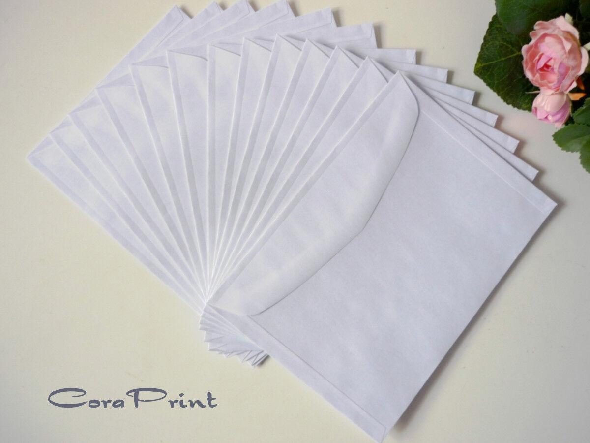 25 Briefumschläge standard B6 weiß für Doppelkarten B6