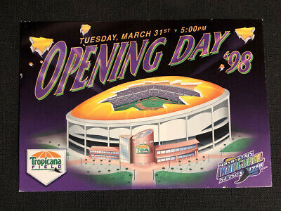 1998 Inaugural Opening Day Tampa Bay Devil Rays Tropicana Field Stadium Postcard