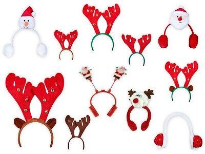 Weihnachts Elchgeweih Rentiergeweih Ohrwärmer Haarreifen Weihnachten Kostüm (Elch Geweih Kostüm)