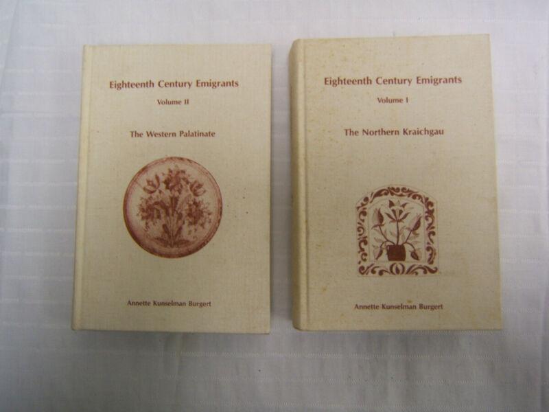 Eighteenth Century German Emigrants Northern Kraichgau & Western Palatinate 2 V