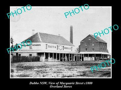 OLD POSTCARD SIZE PHOTO OF DUBBO NSW THE OVERLAND STORE MACQUARIE St (Macquarie Stores)