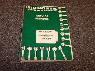 International Dresser 175 175b Crawler Track Loader Shop Service Repair Manual