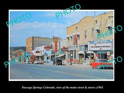 OLD LARGE HISTORIC PHOTO OF PASCOGA SPRINGS COLORADO THE MAIN ST & STORES (The Colorado Store Colorado Springs)