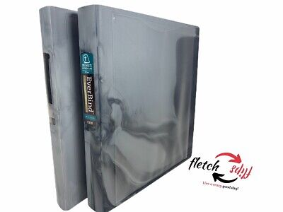 2 In Place Everbind 3 Ring Binders 1 200 Sheets Easy Open Ring View Pvc Free