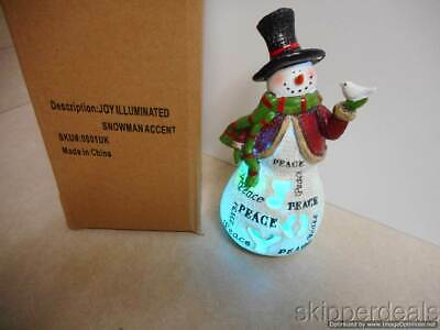 JOY ILLUMINATED SNOWMAN ACCENT COLOR-CHANGING JOY PEACE 7