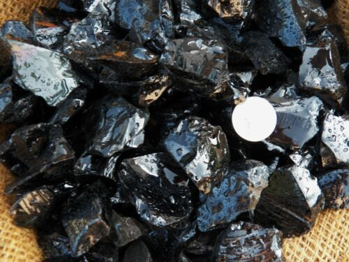 2000 Carat Lots of Black Obsidian Rough - Plus a Very Nice FREE Faceted Gemstone