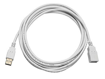 Monoprice 8607 10ft USB 2.0 A Male to A Female Extension 28/24AWG Cable - WHITE