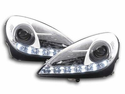Scheinwerfer Set Xenon Daylight LED Tagfahrlicht Mercedes SLK R171 04-11 chrom