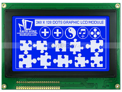 Blue 240x128 Graphic Lcd Module Displayra6963t6963optional Touch Screen