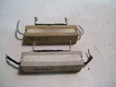 2pcs Dale Cp-15 Resistor Chassis Mount 100 Ohm 5 15w P3622