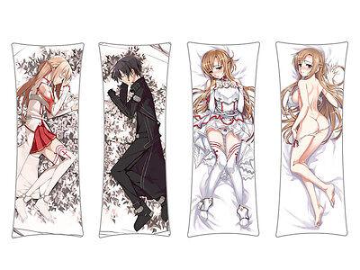 Sword Art Online Umarmungskissen Asuna Kirito Dakimakura Kissen Bezug 150x50cm (Sword Art Asuna)