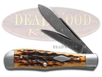Case xx Tony Bose Damascus Eureka Jack Knife Dark Molasses Bone Pocket 7231