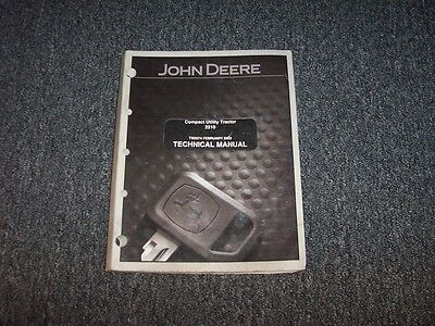 John Deere 2210 Compact Utility Tractor Service Repair Shop Manual Tm2074