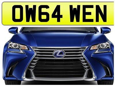OWEN PRIVATE NUMBER PLATE CAR REGISTRATION OW64 WEN✔️OWENS OWEN WEN OWNS