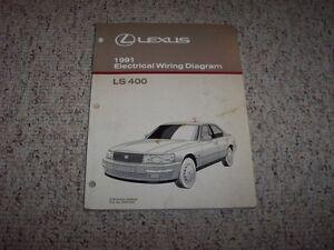 1991 lexus ls400 ls 400 factory original electrical wiring diagram manual book. Black Bedroom Furniture Sets. Home Design Ideas