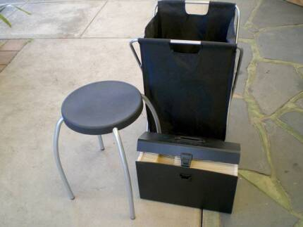 Foldable clothes hamper, small stool and portable file Happy Valley Morphett Vale Area Preview