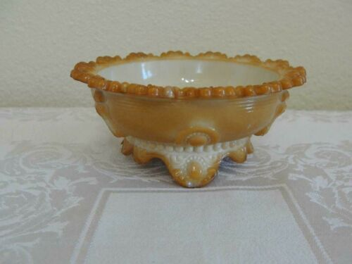 Indiana Greentown Glass Chocolate Berry/Sauce Bowl Dewey Pattern