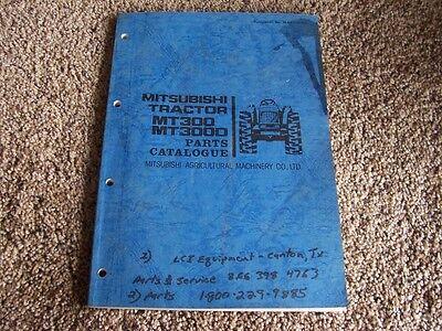 Mitsubishi Mt300 Mt300d Mt 300 D Tractor Factory Original Parts Catalog Manual
